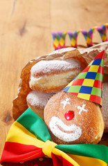 Carnival Donuts Decorated with Hat and Ribbon