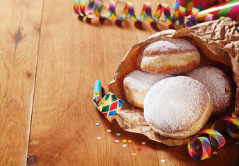 Carnival Donuts on Paper with Props on Sides