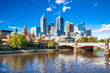 Melbourne skyline looking towards Flinders Street Station - 77889032