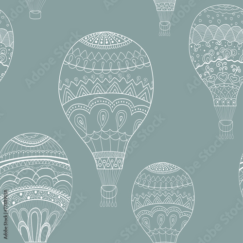 Abstract seamless background with balloons painted by hand. Vect - 77889038