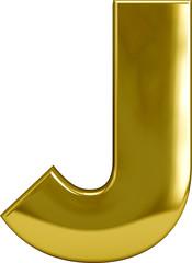 Gold Metal Letter J