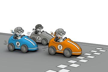 little sketchy men - car race