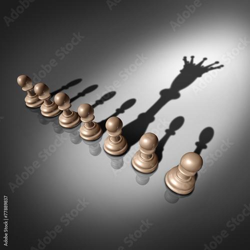 Leinwanddruck Bild Leadership Search