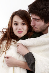 picture of a young couple, valentine day concept