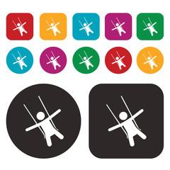 Swing ride icon / chair swing ride icon / amusement ride icon