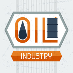 Oil industry background.
