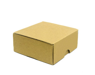 Corrugated cardboard boxes on white