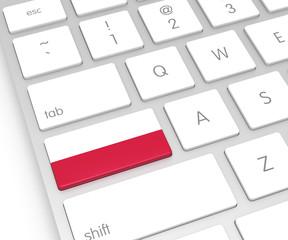 Poland Flag on Computer Key