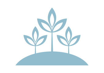 Plant vector icon on white background