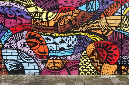 Street art - Graffiti wall - 77891611
