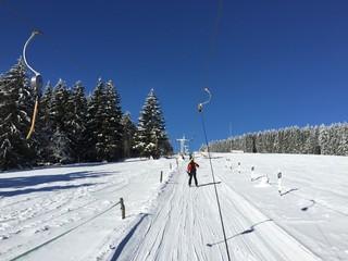 Skilift im Thüringer Wald