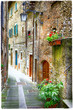 charming old streets of medieval towns of Italy - 77892034