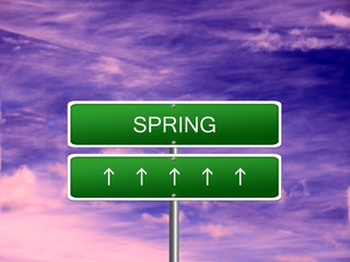 Spring Season Background Sign