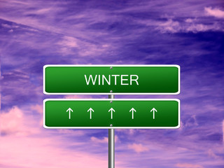 Winter Season Background Sign