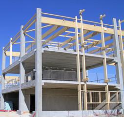 Bâtiment écologique en construction