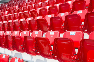 amphitheater of red seats