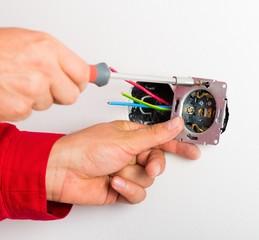 Assembling Electrical Wall Socket