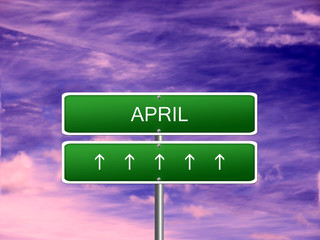 April Month Background Sign