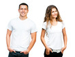 Teenagers in  Blank White Shirt