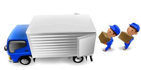 引越し 移動 運送業 トラック イラスト