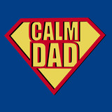 Calm Dad T-shirt Typography, Vector Illustration poster