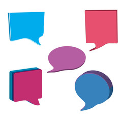 jean dialog speech bubbles icons background