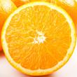 canvas print picture - Orange geschnitten