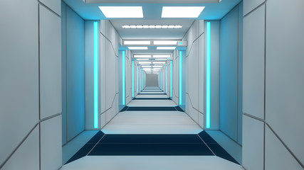 Interior futuristic design concept architecture