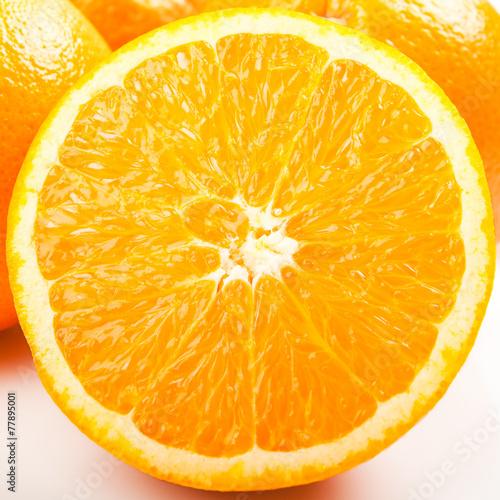 canvas print picture Orange geschnitten