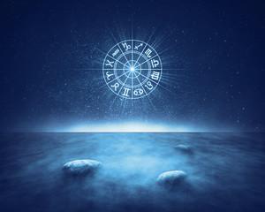 Zodiac signs horoscope landscape