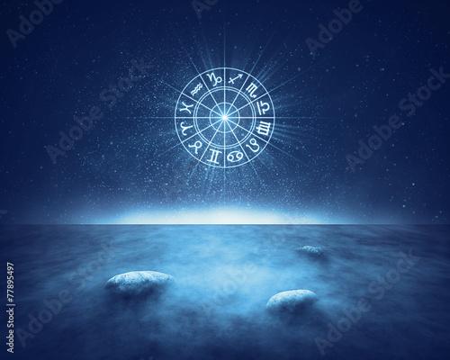 Zodiac signs horoscope landscape - 77895497