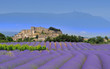 Leinwandbild Motiv village de provence