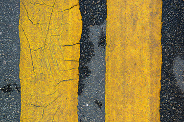line on asphalt road texture