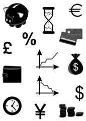 money-icons - black