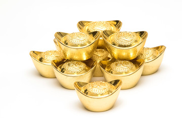 Chinese new year ornament--Stack of gold ingots