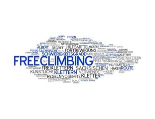 FREECLIMBING | Modern Konzept Word Tag Cloud