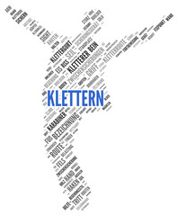 KLETTERN | Modern Konzept Word Tag Cloud
