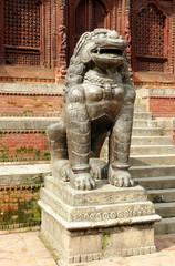 Lion statue in Hanuman Dhoka Durbar