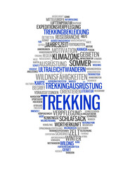 TREKKING | Konzept Tag Word Cloud