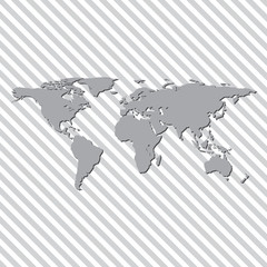 Map of land in the background with lines vector illustration