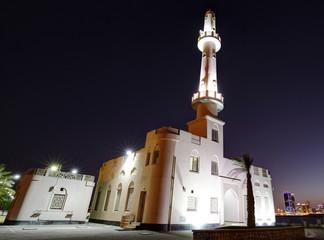 Muharraq corniche mosque and skyline, Bahrain