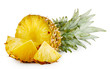 Juicy ripe sliced pineapple