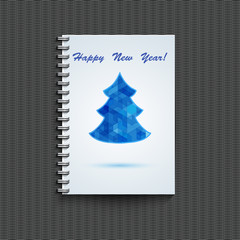 Notepad template with winter background.