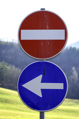 Road signs. Color image