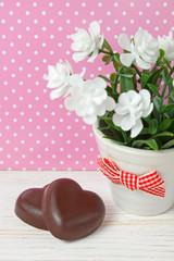 chocolate candy hearts