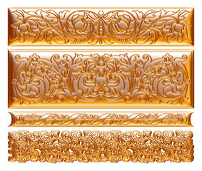 gold framed pattern on a white background.