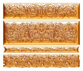gold framed pattern on a white background.
