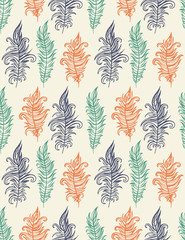Seamless beautiful feather pattern