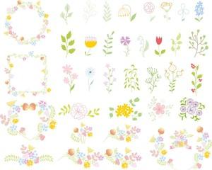 Набор свадебных графических SET- венок, цветы, лавр, ленты
