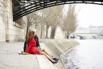 Romantic couple in love having a date